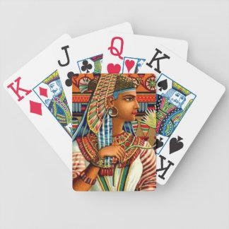 Arte egipcio del renacimiento del vintage de la re barajas de cartas