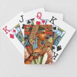 Arte egipcio del renacimiento del vintage de la re baraja cartas de poker