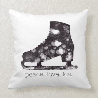 Arte el hielo del amor de la paz del patinaje cojín