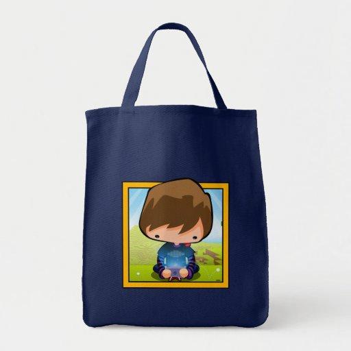 Arte el videojugador bolsa tela para la compra