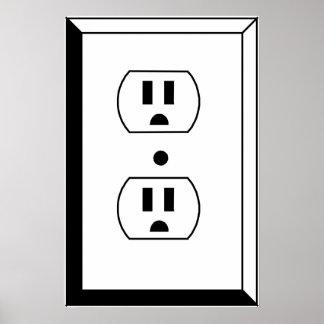 Arte eléctrico del mercado o del empollón póster