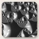 Arte elegante blanco y negro del fractal
