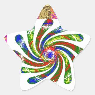 Arte ELEGANTE de la rueda del giro Pegatina En Forma De Estrella