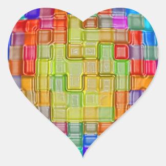 arte elegante de las impresiones de las camisetas pegatina corazon personalizadas