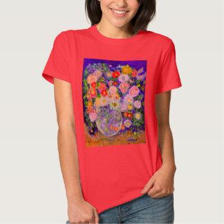 Arte elegante del diseñador de las flores camisas