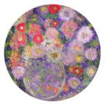Arte elegante del diseñador de las flores plato de comida