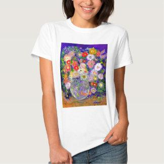 Arte elegante del diseñador de las flores playera