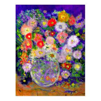 Arte elegante del diseñador de las flores postal