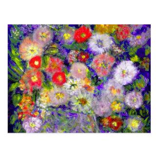 Arte elegante del diseñador de las flores postales