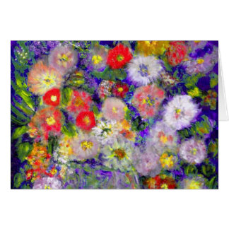 Arte elegante del diseñador de las flores tarjeta de felicitación