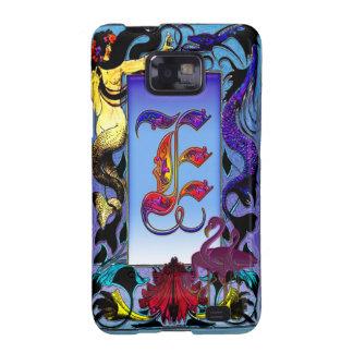 Arte elegante del monograma de la letra E de la fa Galaxy S2 Funda