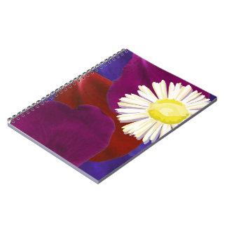 Arte elegante del pétalo color de rosa del girasol cuaderno