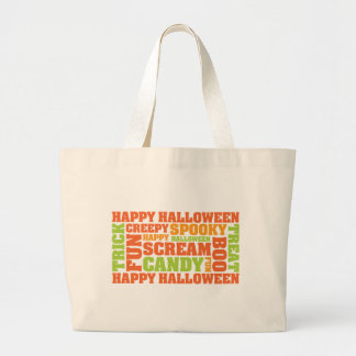 Arte elegante del texto del feliz Halloween Bolsas De Mano