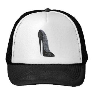 Arte elegante negro del zapato del tacón alto del  gorras