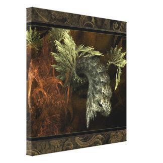 Arte emergente de la pared del fractal impresión en lona