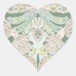 arte en colores pastel adornado del modelo del pegatina en forma de corazón