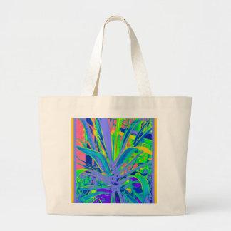 Arte en colores pastel de los cactus del agavo ame bolsa lienzo