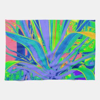 Arte en colores pastel de los cactus del agavo ame toallas de mano