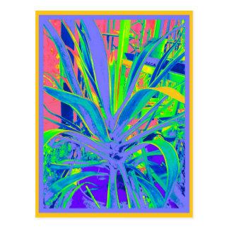 Arte en colores pastel de los cactus del agavo ame tarjetas postales