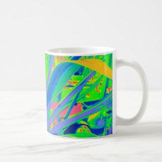 Arte en colores pastel de los cactus del agavo ame taza
