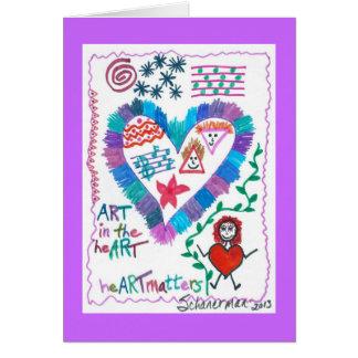 ARTE en el corazón Tarjeta De Felicitación