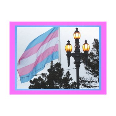 Arte en lienzo Lámina - Bandera Transgénero Canvas Print