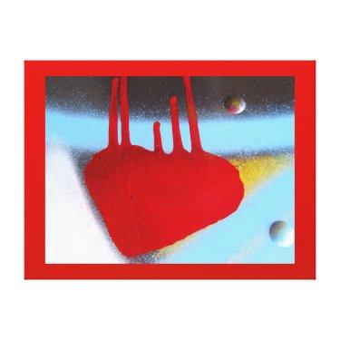 Arte en lienzo Lámina - El Corazón Rojo Canvas Print