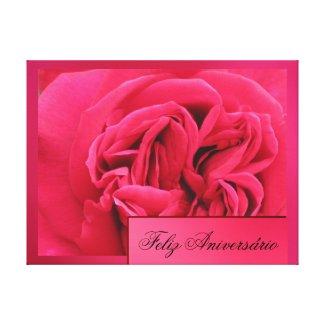 Arte en lienzo Lámina - Feliz Aniversário Rosa