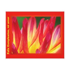 Arte en lienzo Lámina - Feliz Cumpleaños, mi amor Gallery Wrap Canvas