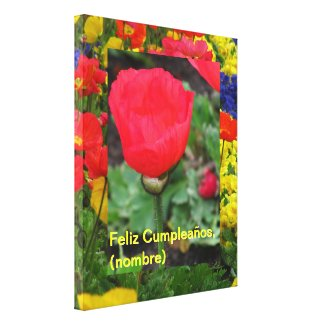 Arte en lienzo Lámina - Feliz Cumpleaños (nombre) Gallery Wrap Canvas