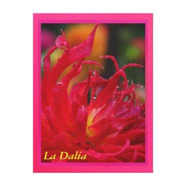 Arte en lienzo Lámina - La Dalia Roja Canvas Print