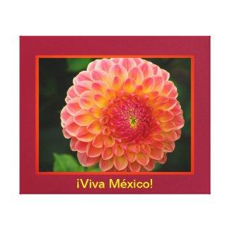 Arte en lienzo Lámina - ¡Viva México! - La Dalia Gallery Wrapped Canvas