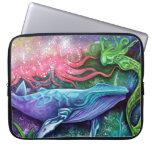 Arte encantado del océano fundas computadoras