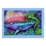 Arte encantado del océano tarjeta de felicitación