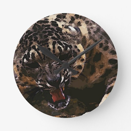 arte enojado del guepardo relojes