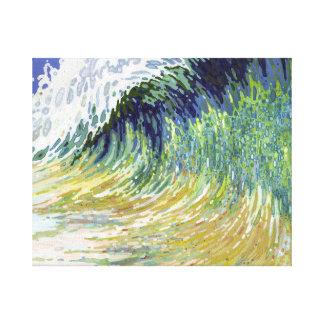 Arte enorme de la playa de la lona de la resaca de impresión en lienzo estirada