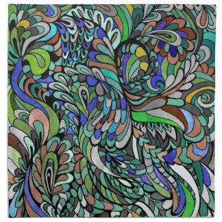 Arte enrrollado multicolor de Paisley del pavo Servilletas De Papel