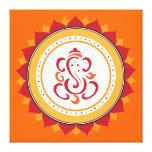 Arte envuelto Ganesha moderno de la pared de la lo Lona Envuelta Para Galerias
