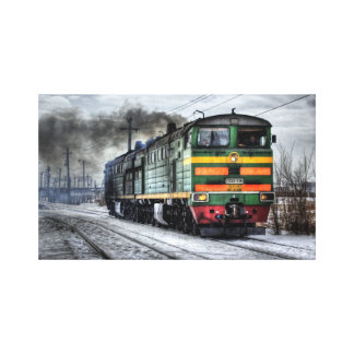 Arte envuelto locomotora diesel de la pared de la impresiones en lona