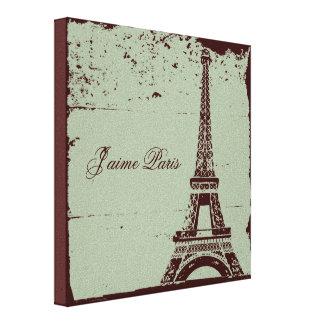 Arte envuelto torre Eiffel de la lona Impresiones En Lona Estiradas