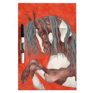 Arte equino de la acuarela tablero blanco