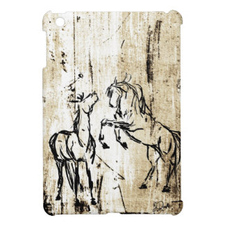 Arte equino que alza caballos iPad mini cárcasas