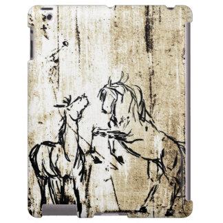 Arte equino que alza caballos funda para iPad