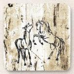Arte equino que alza caballos posavaso