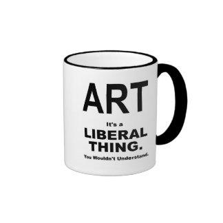 ARTE: Es una cosa liberal Taza De Dos Colores