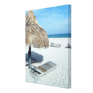 Arte escénico tropical de la cabaña de la playa lienzo envuelto para galerias