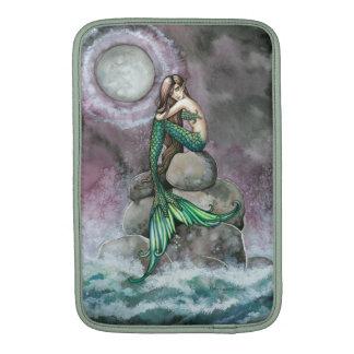 Arte esmeralda de la fantasía de la sirena funda macbook air