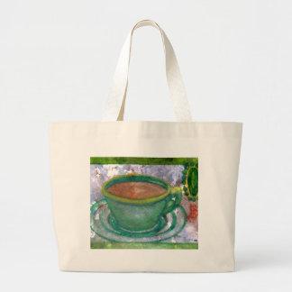 Arte esmeralda del café de CricketDiane del café Bolsa Tela Grande