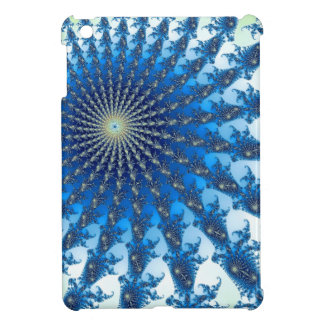 Arte espiral azul y amarillo del fractal