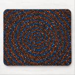 Arte espiral de Digitaces de los círculos Tapete De Raton